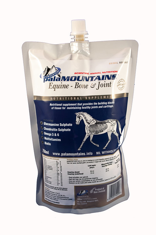palaMOUNTAINS Equine Bone & Joint paard 750 ml