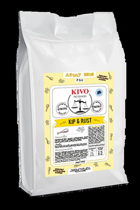 Kivo Petfood brokken Kip & Rijst (koudgeperst)