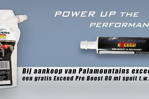 palaMOUNTAINS Exceed 2,5 liter een gratis Exceed Pre Boost 80ml