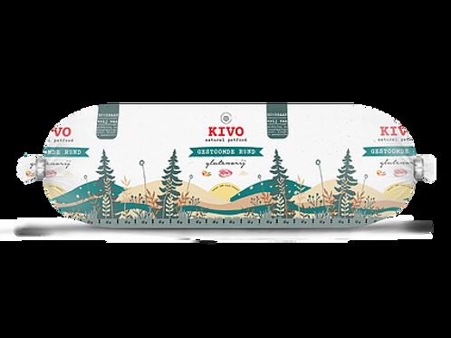 Kivo Petfood houdbare worst gestoomde Rund 12 rollen  (per worst 600 gram