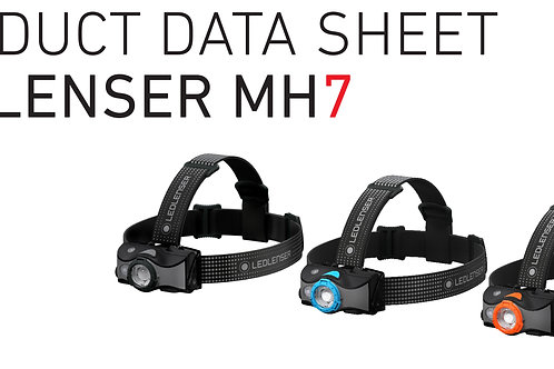 MH-7, Outdoor, headlamp, AFS, SLT, MC, red reading light, 5 LF, rechargeable