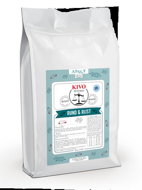 Kivo Petfood brokken Rund & Rijst (koudgeperst)
