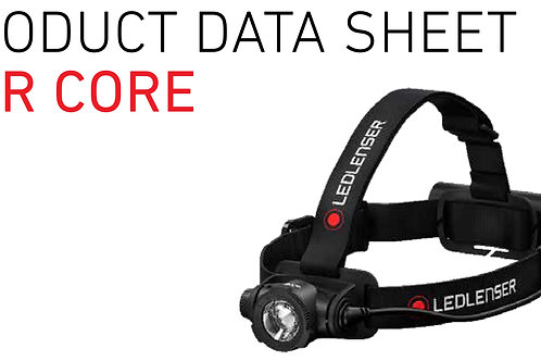 H7R, CORE, headlamp rechargeable, 4 LF, Dimm, Transport Lock