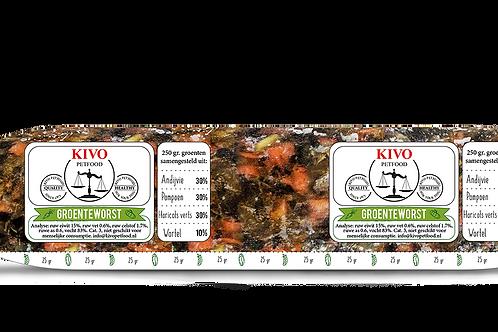 Kivo Petfood Groenteworst 250 gram (per stuk)