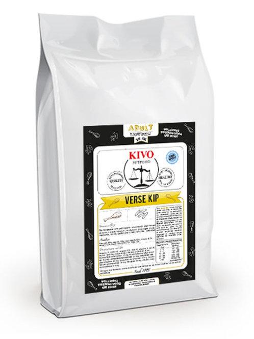 Kivo Petfood brokken Verse kip tarwevrij - ADULT (koudgeperst)