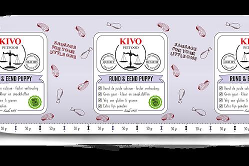 Kivo Petfood versvlees rund & Eend compleet 1 kg (per doos 10kg)