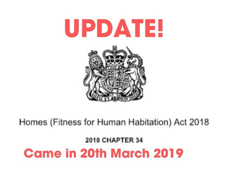 (Fitness for Human Habitation Act )  The Bill means more Protection for Tenants