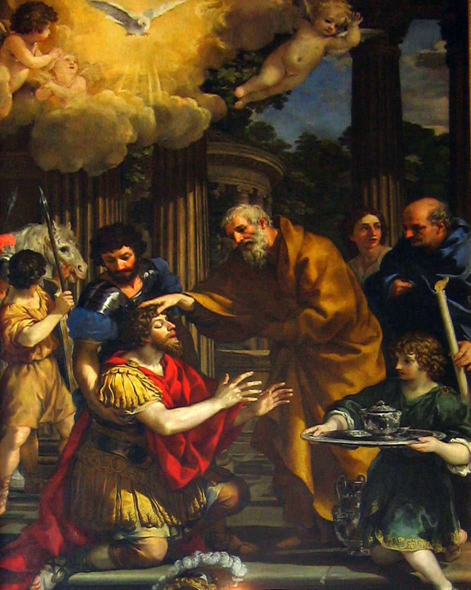 A splendid canvas (c.1631) by Pietro da Cortona in the Capuchin church of S. Maria della Concezione.