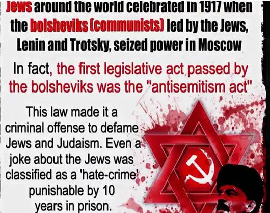Jews make anti-semitism a crime.JPG
