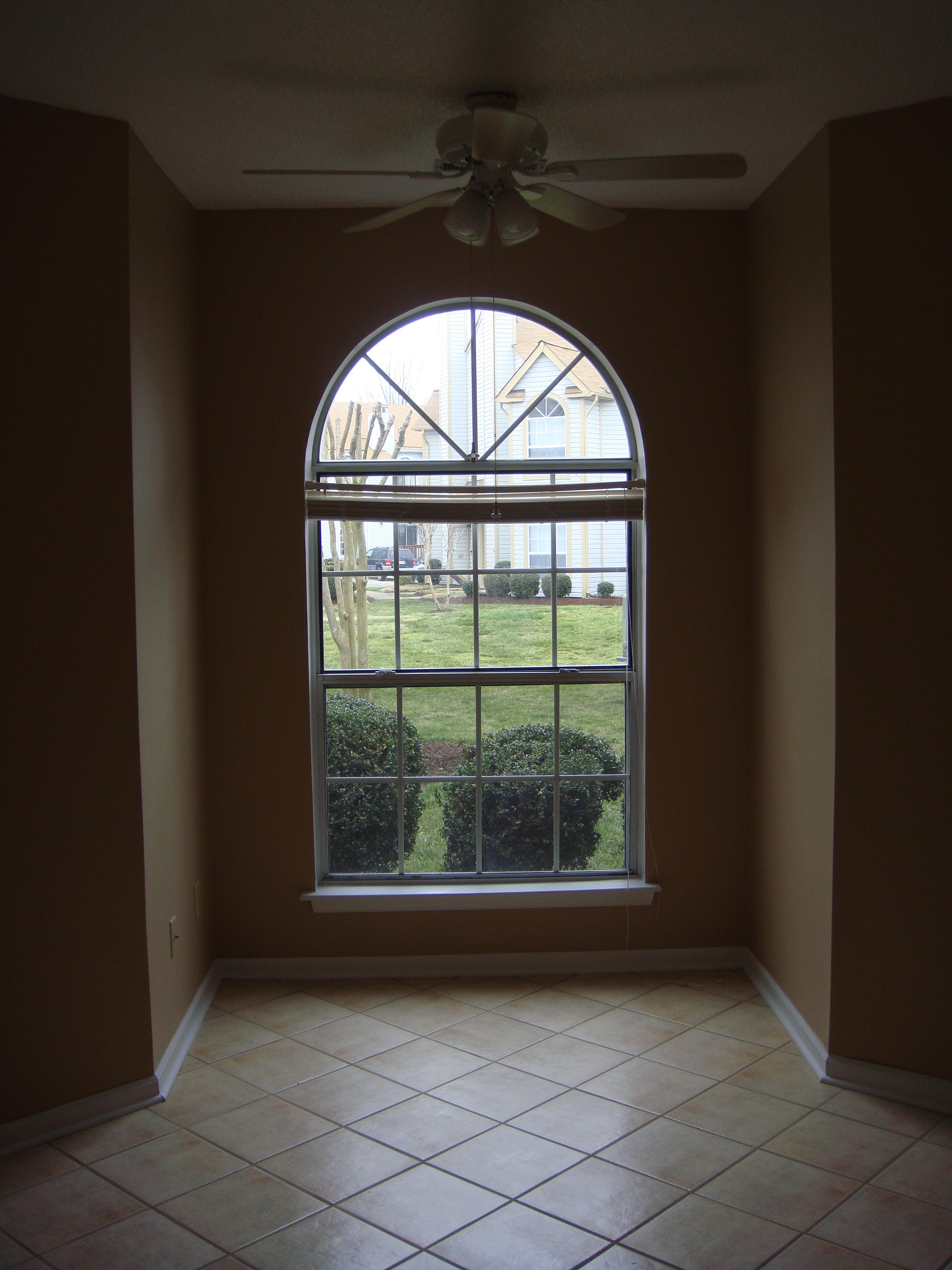 Big windows with half circle windows