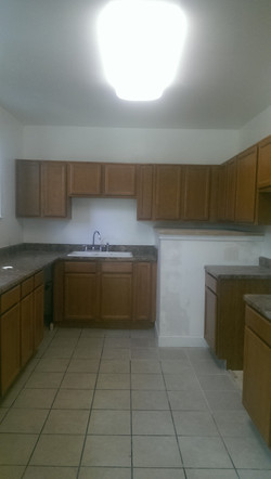 Many cabinets in Kitchen