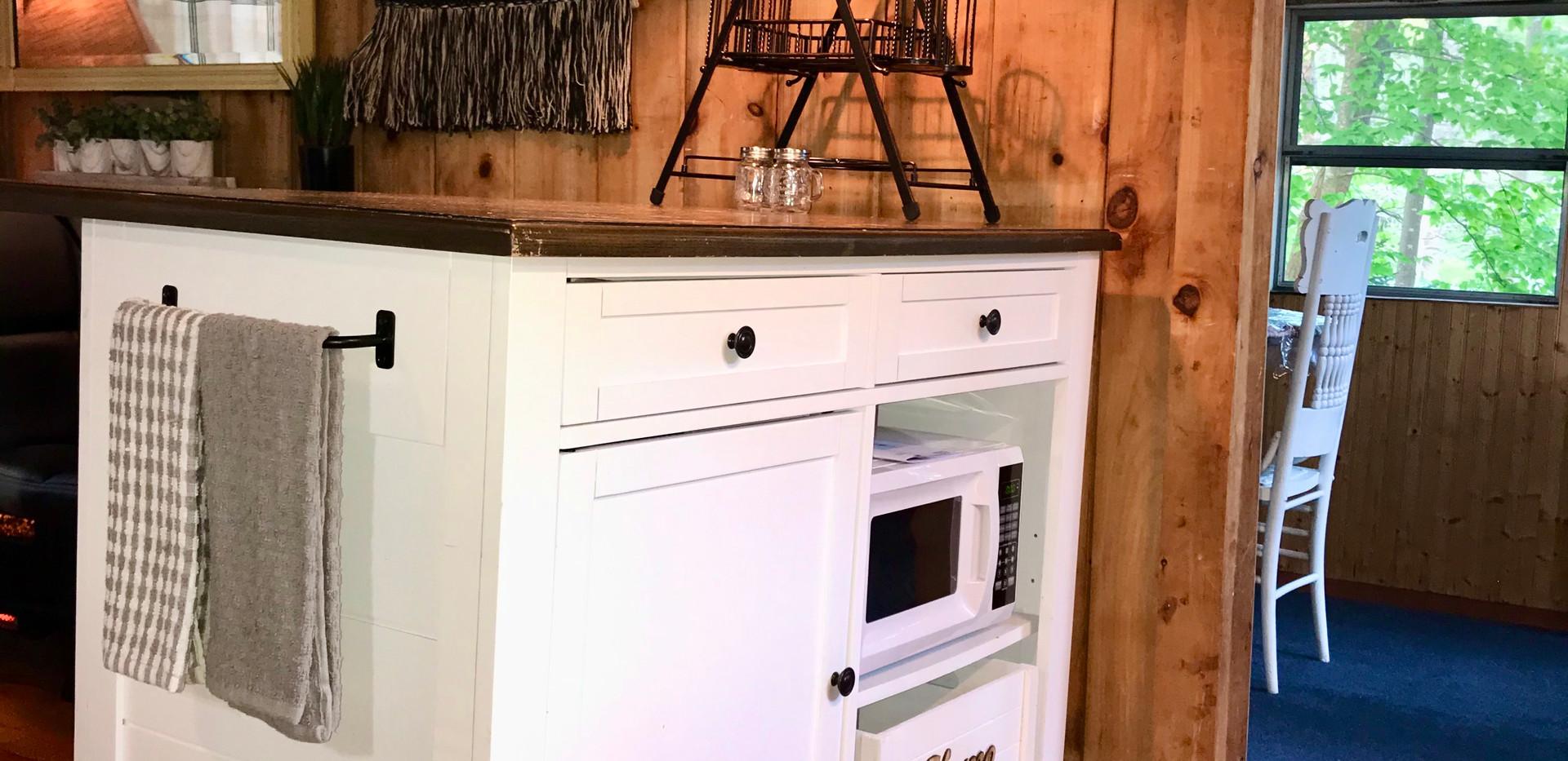 Kitchen Island/Microwave