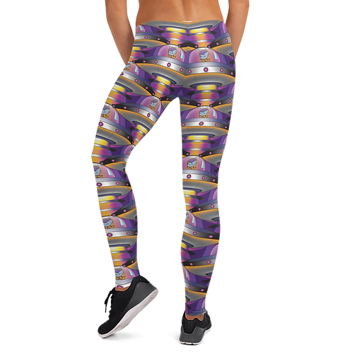"""UFO Beam"" Yoga Full Leggings"