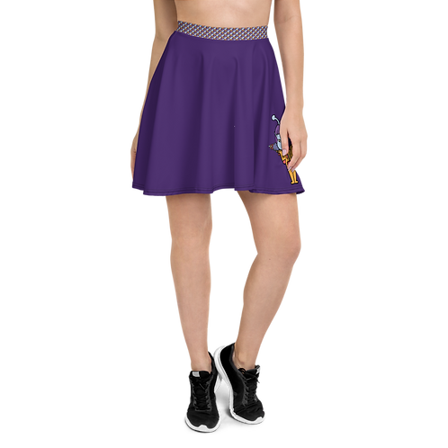 """Trilly the Alien"" Skater Skirt - Purple"