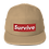 "Thumbnail: ""Survive"" Embroidered Five Panel Cap"