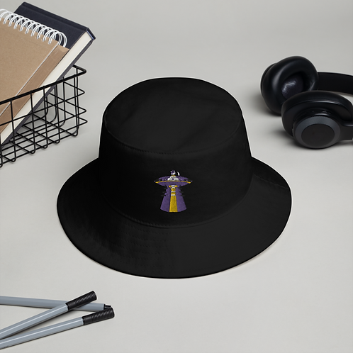 """UFO Beam"" Embroidered Bucket Hat"