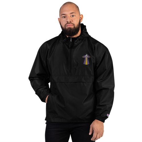"""""""UFO Beam"""" Champion Embroidered Packable Jacket"""
