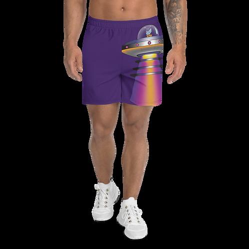 """UFO Beam"" Men's Athletic Long Shorts"