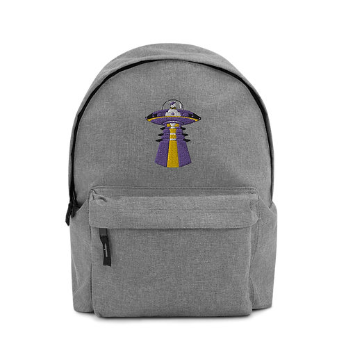 """UFO Beam"" Embroidered Backpack"