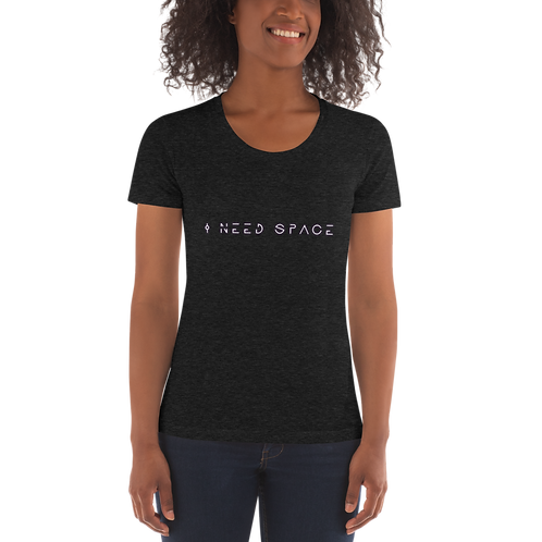 """""""I Need Space"""" American Apparel Women's Crew Neck T-shirt"""