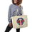 "Thumbnail: ""Life Beam"" Large Organic Eco Tote Bag"
