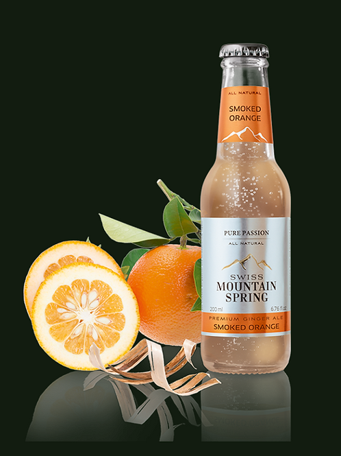 Swiss Mountain Spring All Natural Smoked Orange Ginger Ale
