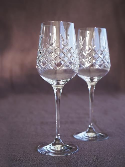 2 Crispy white wine glasses 35 cl