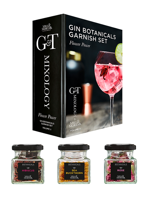Flower Power Gin & Tonic Garnitur Set