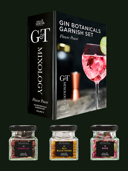 Flower Power Gin & Tonic Garnish Set