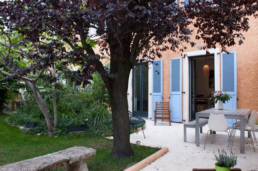 Le jardin de la petite maison de ville