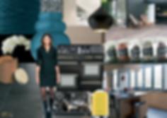 """Planche ambiance """"une cuisine autour d'un piano"""" par Rocamboles / Christel Duperray décoratrice d'intérieur"""