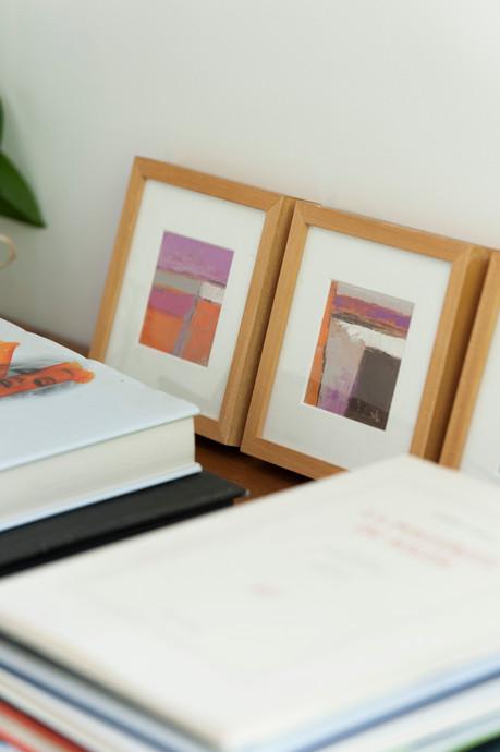 Livres d'art et tableaux en déco