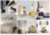 """Planche univers """"chambre cosy"""" par Rocamboles, Christel Duperray décoratrice d'intérieur à Lyon"""