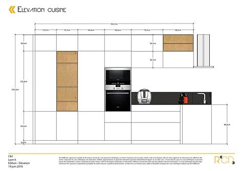 Elévation cuisine appartement Lyon 6