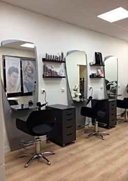 L'espace coiffure du nouveau salon