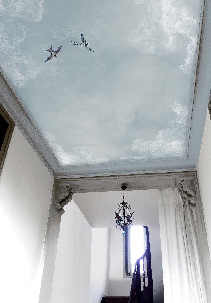 Ciel, papier peint, Isidore Leroy, plafond décoré