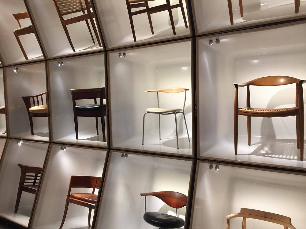 Galerie des chaises - Musée du Design Copenhague