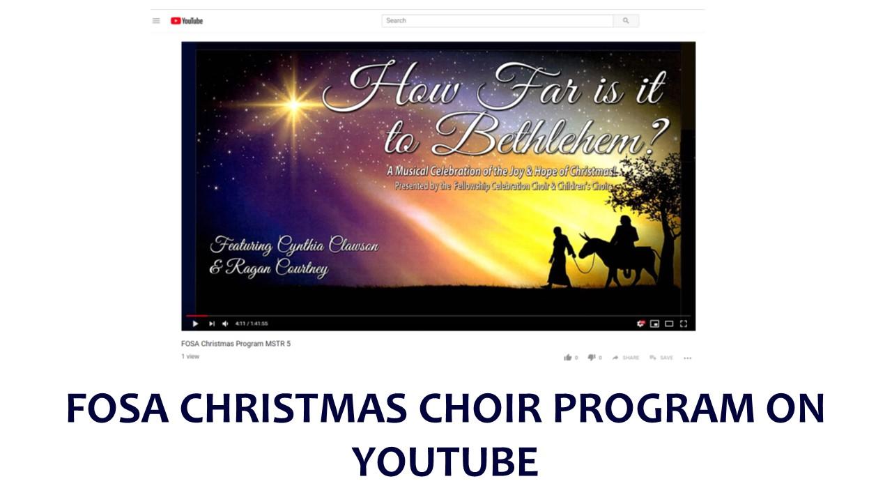 Youtube Christmas.Christmas Choir Program On Youtube