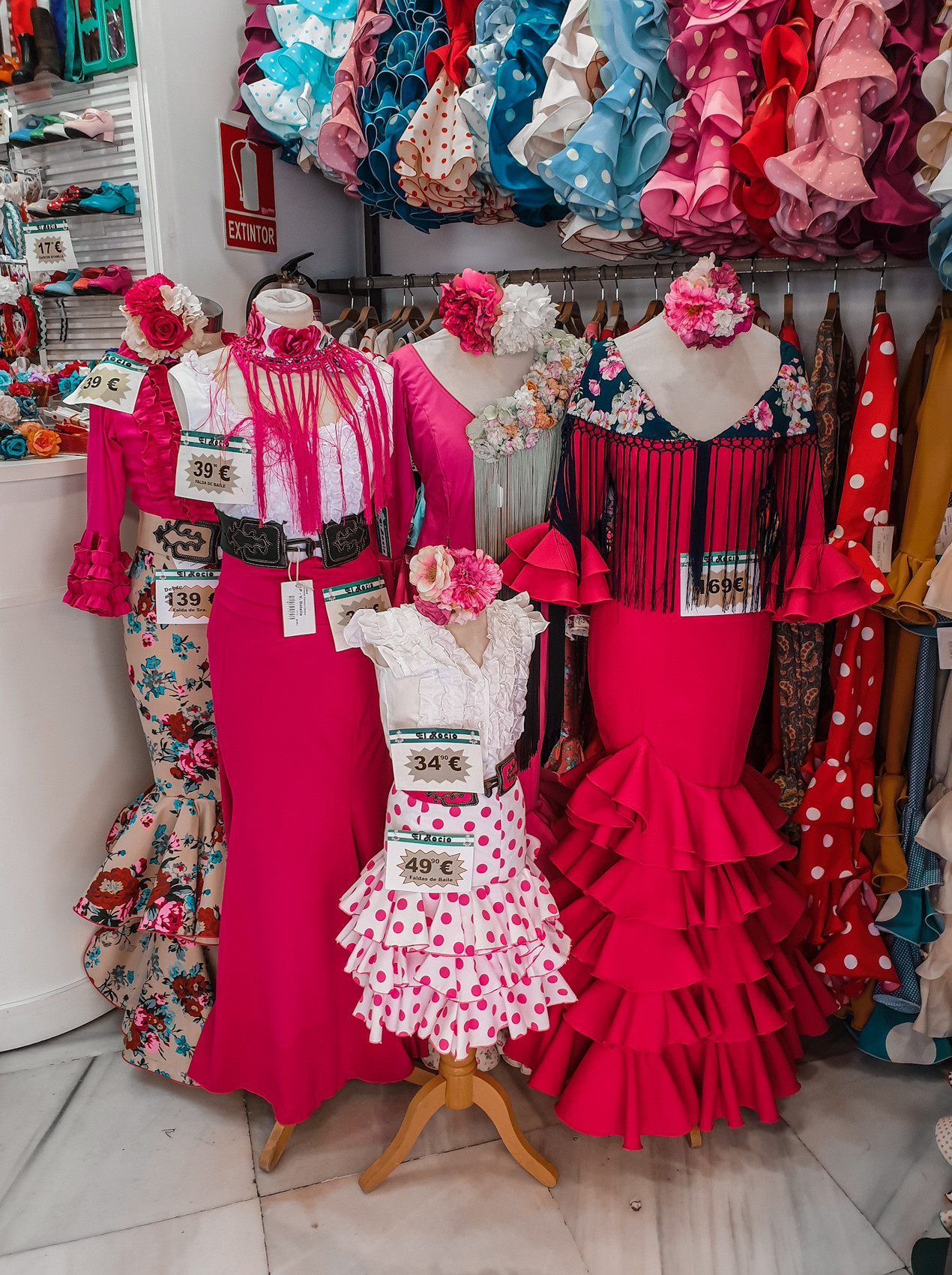 spanische Flamenco Mode in Malaga - Shops - Olivia Libi