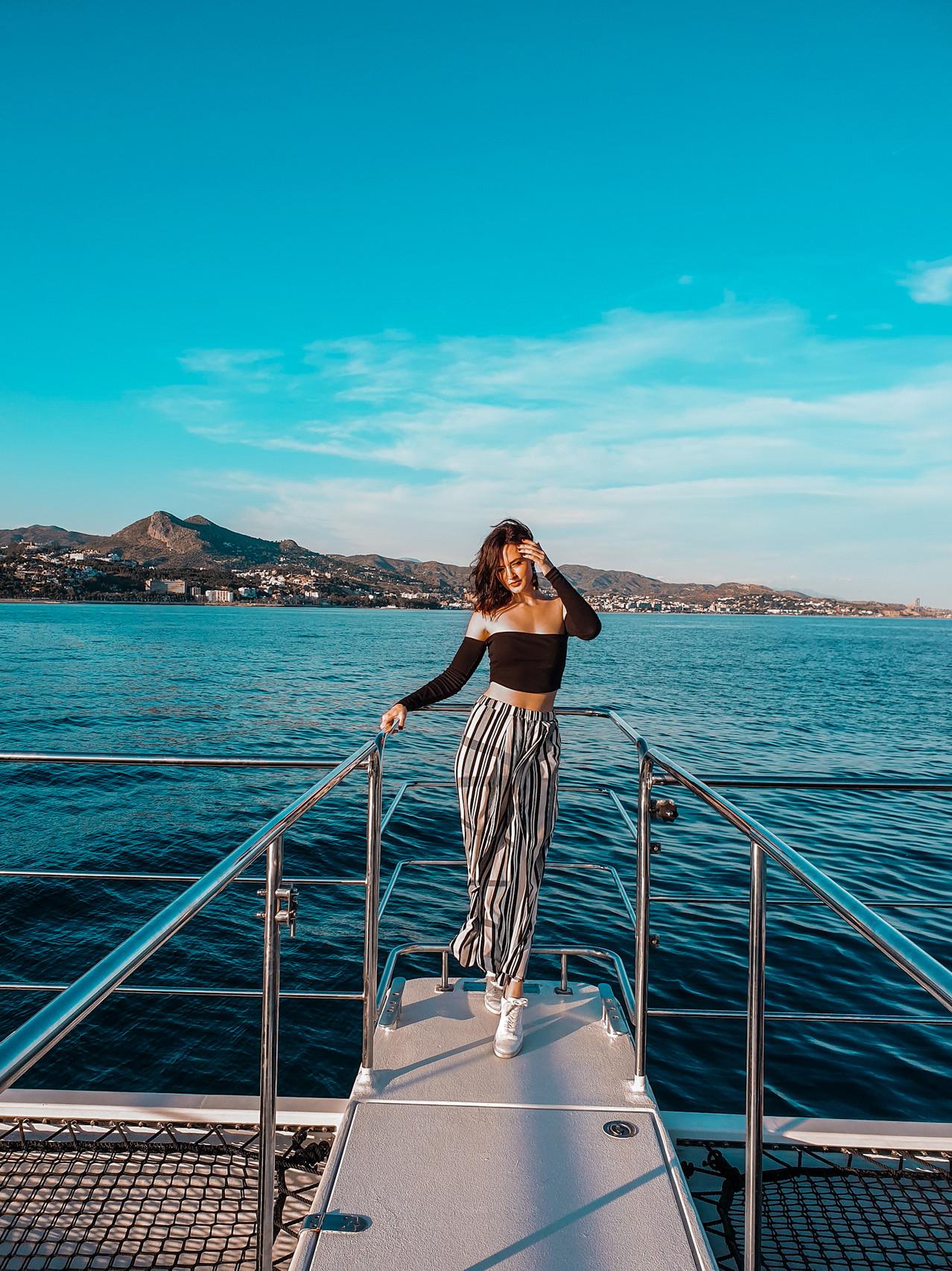 Sonnenuntergang / Sunset Malaga - Boottour Malaga - Olivia Libi