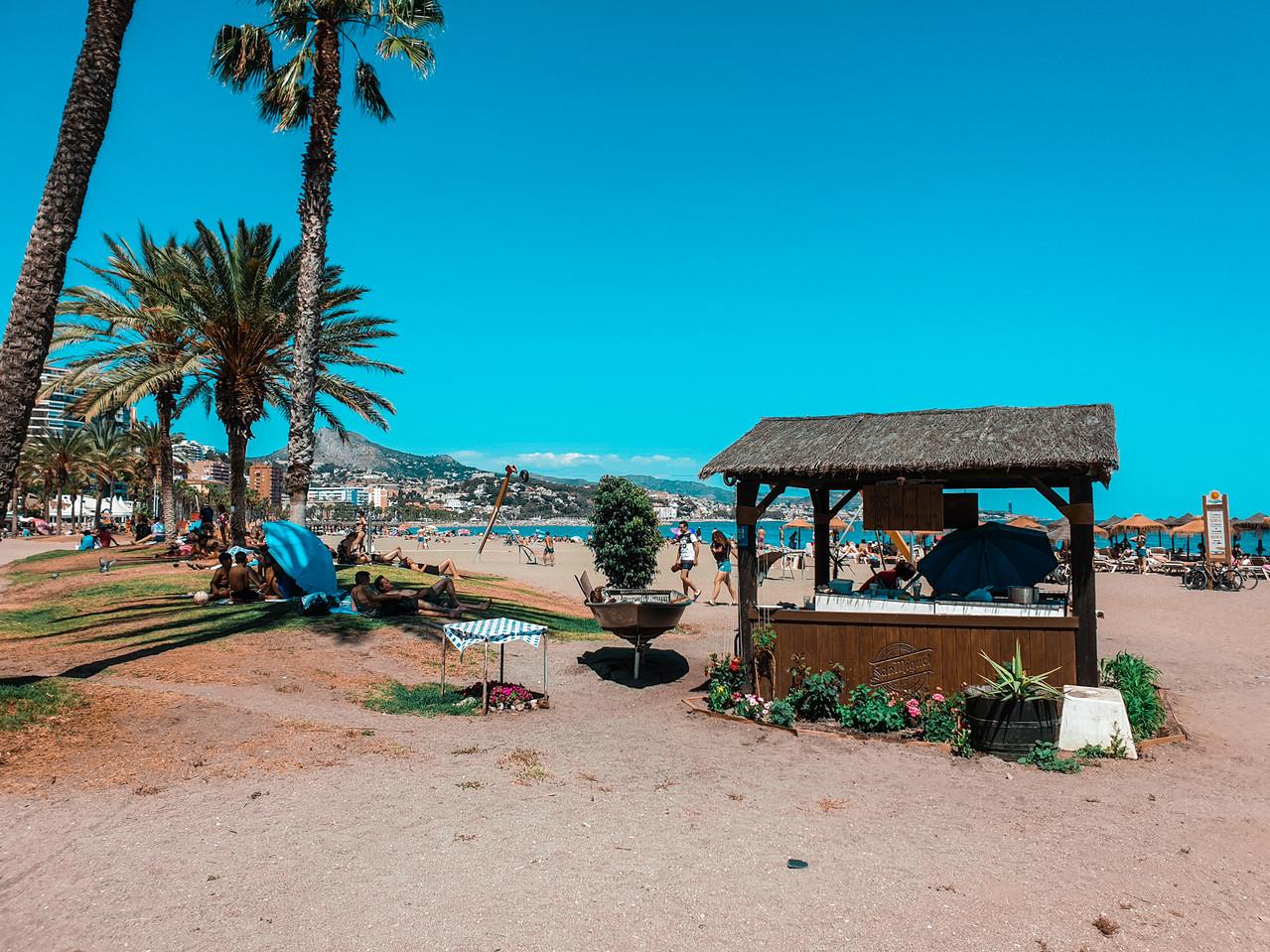Playa de la Malagueta - Malaga Strand Olivia Libi