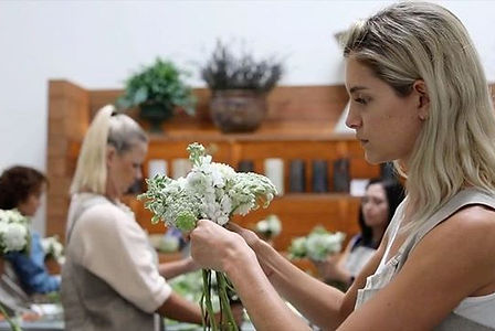 A floral design class at Russian River Flowers School + Events