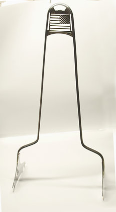 """30"""" Polished SS Sissy Bar Freerider 2009-up bagger Quick Release"""