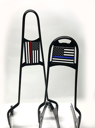 """Thin Red/Thin Blue Line for """"Freerider"""" Sissy Bars"""
