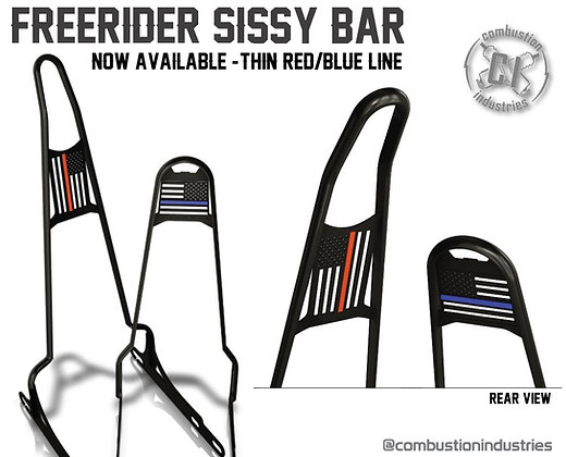 "Thin Red/Thin Blue Line for ""Freerider"" Sissy Bars"