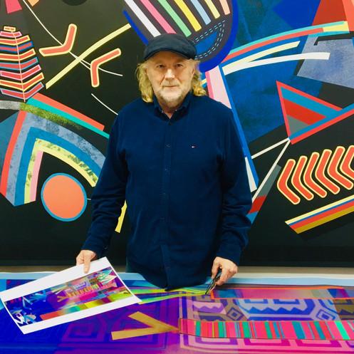 Stuart Morris at work in the Rose Chapel Studio
