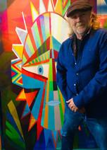Stuart Morris with his Self Portrait