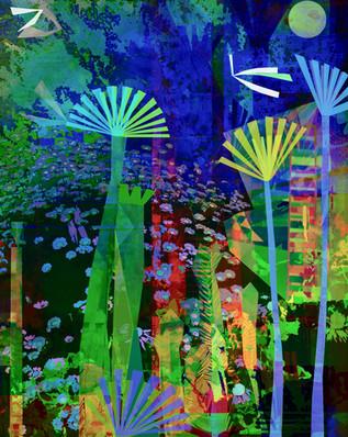 Nighttime Garden