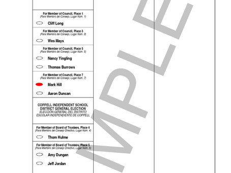 VOTE TOMORROW 7:00 am - 7:00 pm @ City Hall