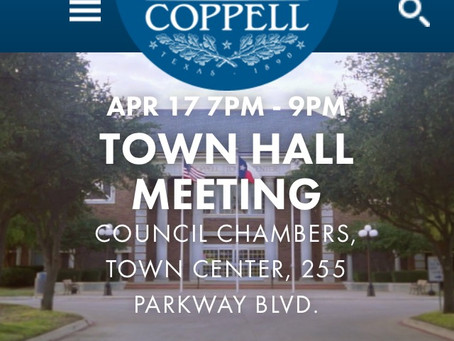 Town Hall Meeting Tonight at 7pm